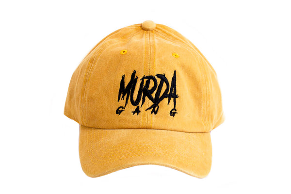 "Murda Gang ""OG"" Dyed Dad Hat (Yellow)"