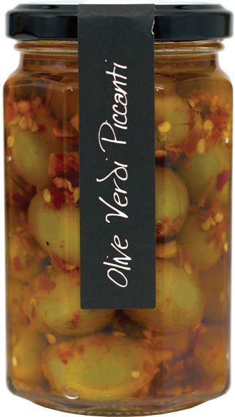 Olive Verdi Piccanti Spicy Green Olives - Casina Rossa
