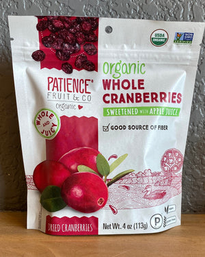 Whole Dried Cranberries - Patience Fruit & Co