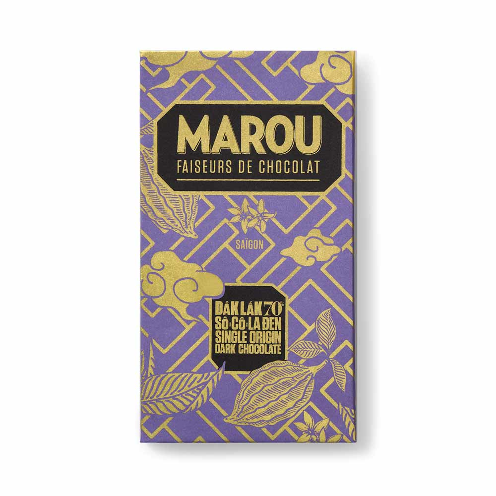 Dak Lak 70% So Co La Den Single Origin Dark Chocolate - Marou