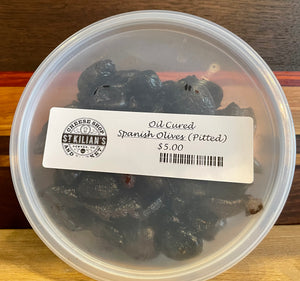 Oil Cured Spanish Olives - Pitted