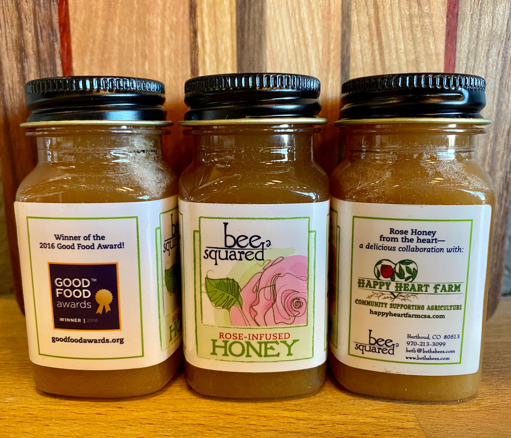Rose Infused Honey - Bee Squared