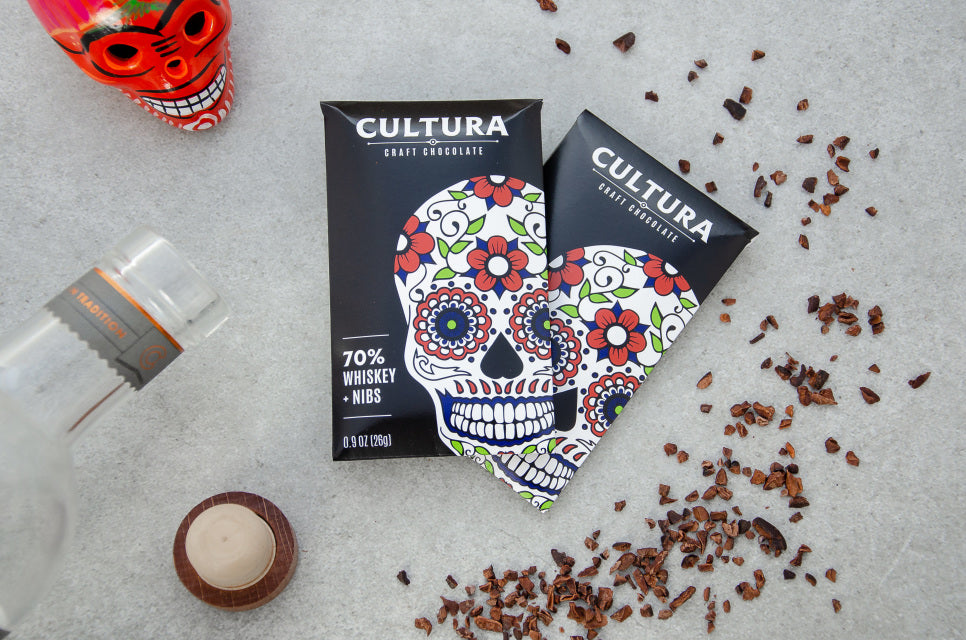 Whiskey + Nibs 70% - Cultura Craft Chocolate