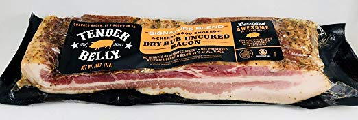 Tender Belly Dry Rub Uncured Bacon - 1 lb