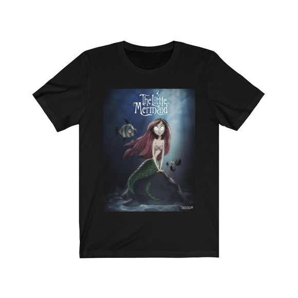 The Little Mermaid, Tim Burton's Style, Unisex Jersey Short Sleeve Tee