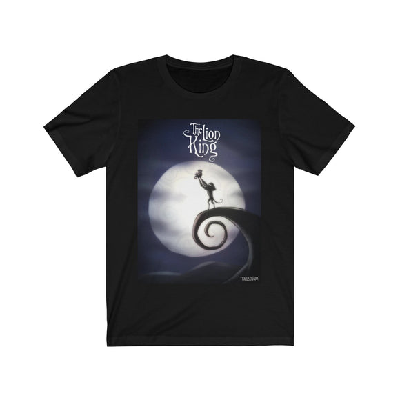 The Lion King, Tim Burton's Style, Unisex Jersey Short Sleeve Tee