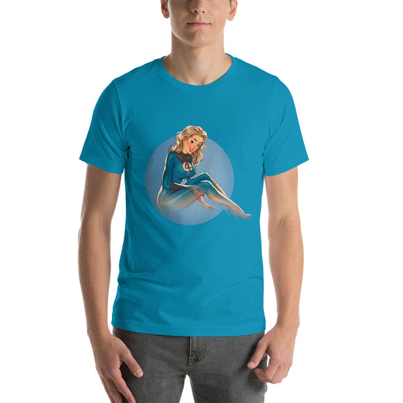 Invisible Woman, Superheroes, Short-Sleeve Unisex T-Shirt