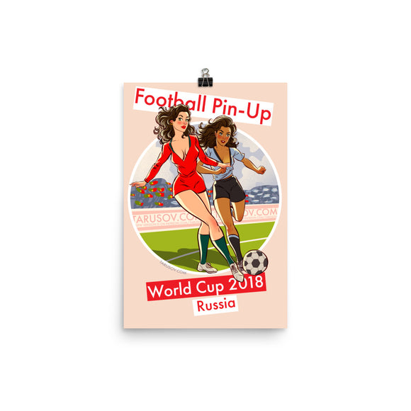 Portugal & Uruguay, Footbal Pin-Up, Poster