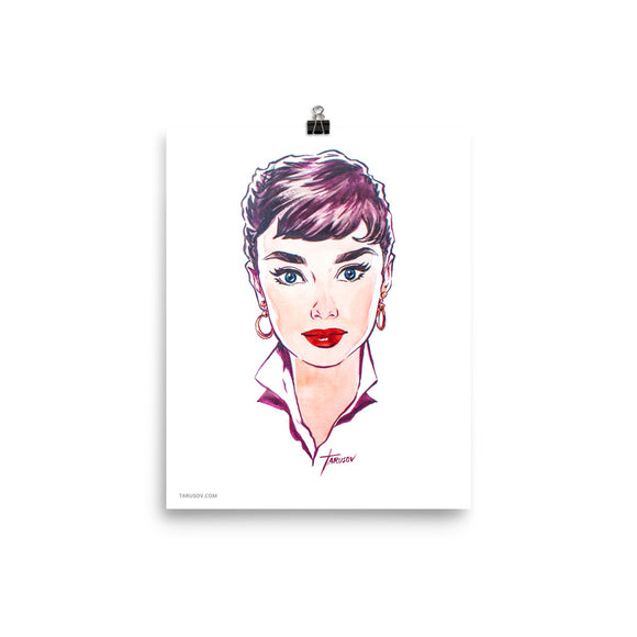 Audrey Hepburn, Hollywood Icons, Poster