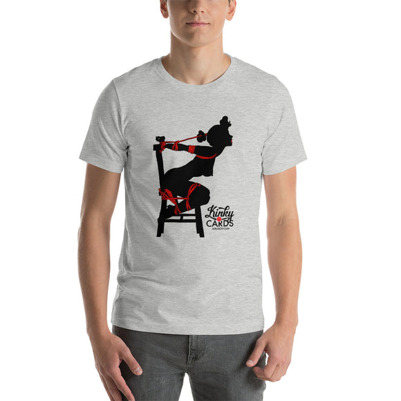 5 of clubs (Silhouette), Kinky Cards, Short-Sleeve Unisex T-Shirt