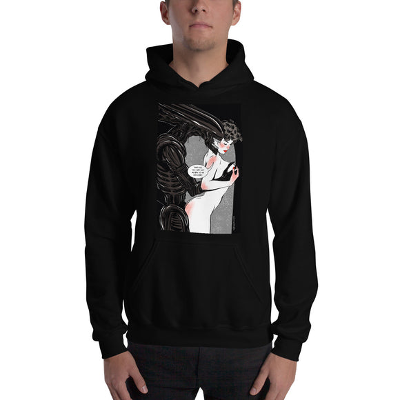 Xenomorph, Erotic Gothic, Hooded Sweatshirt