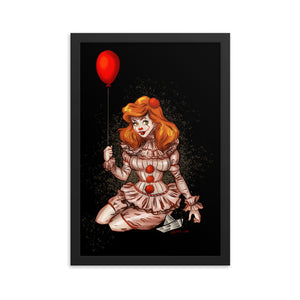 Pennywise from It - Ariel, Maniac Princesses, Framed poster