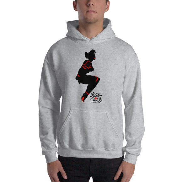 2 of clubs (Silhouette), Kinky Cards, Hooded Sweatshirt