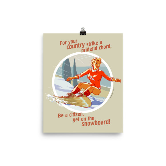 Snowboard, Sports Pin-Up, Poster