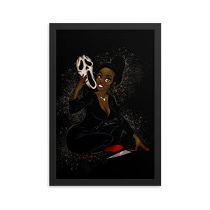Ghostface from the Scream - Tiana, Maniac Princesses, Framed poster