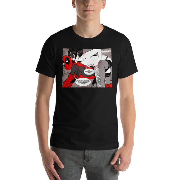 Deadpool, Erotic Superheroes, Short-Sleeve Unisex T-Shirt