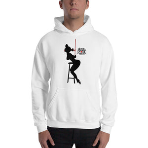 9 of clubs (Silhouette), Kinky Cards, Hooded Sweatshirt