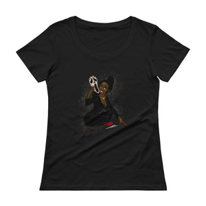 Ghostface from the Scream - Tiana, Maniac Princesses, Ladies' Scoopneck T-Shirt