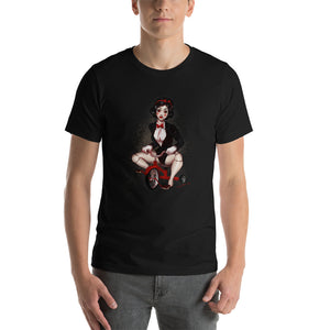 Billy the Puppet from the Saw - Snowwhite, Maniac Princesses, Short-Sleeve Unisex T-Shirt