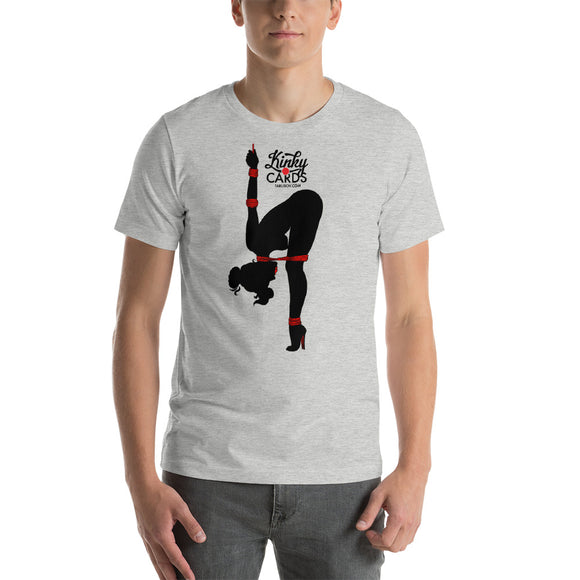8 of clubs (Silhouette), Kinky Cards, Short-Sleeve Unisex T-Shirt