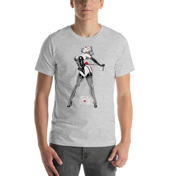 Queen of hearts, Kinky Cards, Short-Sleeve Unisex T-Shirt