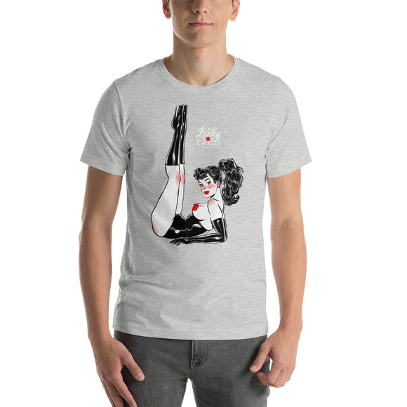 8 of diamonds, Kinky Cards, Short-Sleeve Unisex T-Shirt