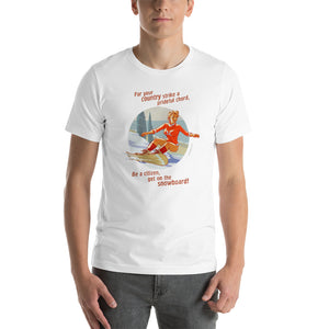 Snowboard, Sports Pin-Up, Short-Sleeve Unisex T-Shirt