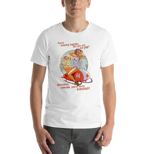 Bobsley, Sports Pin-Up, Short-Sleeve Unisex T-Shirt