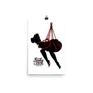 10 of clubs (Silhouette), Kinky Cards, Poster
