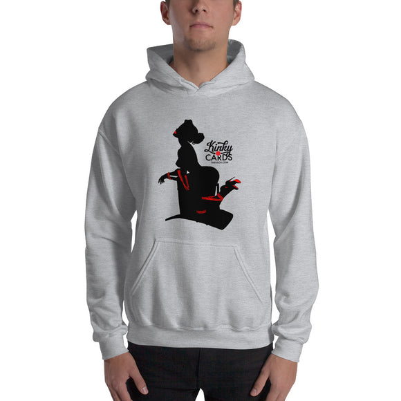 7 of clubs (Silhouette), Kinky Cards, Hooded Sweatshirt