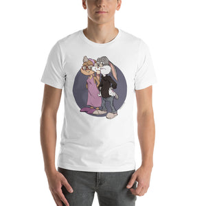 Buggs & Lola Bunny, Cartoons Got Old, Short-Sleeve Unisex T-Shirt