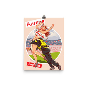 England, Footbal Pin-Up, Poster