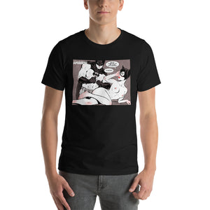 Batman & Catwoman, Erotic Superheroes, Short-Sleeve Unisex T-Shirt