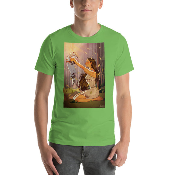 Pocahontas, Disney Princesses Pin-Up, Short-Sleeve Unisex T-Shirt