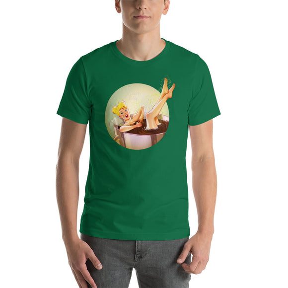 Tinkerbell from the Peter Pan, Disney Princesses Pin-Up, Short-Sleeve Unisex T-Shirt