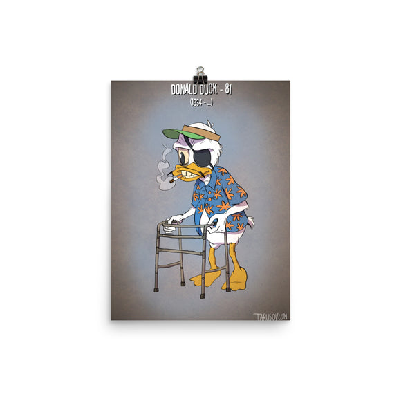 Donald Duck, Cartoons Got Old, Poster