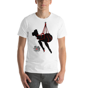 10 of clubs (Silhouette), Kinky Cards, Short-Sleeve Unisex T-Shirt