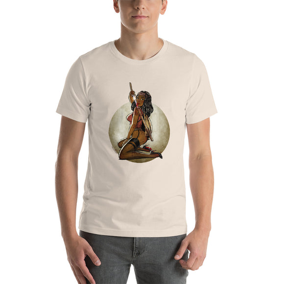 Michonne, The Walking Dead Pin-Up, Short-Sleeve Unisex T-Shirt