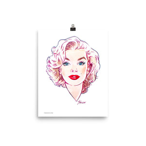 Marilyn Monroe, Hollywood Icons, Poster