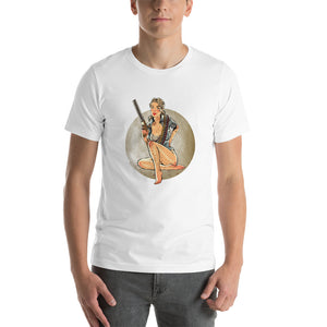 Andrea, The Walking Dead Pin-Up, Short-Sleeve Unisex T-Shirt
