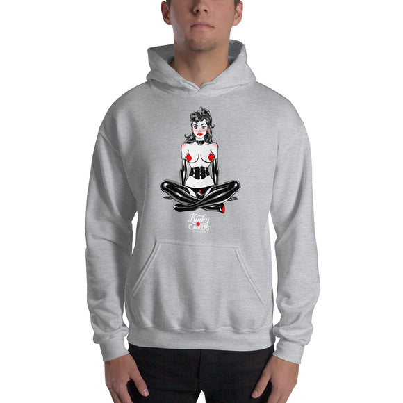 9 of diamonds, Kinky Cards, Hooded Sweatshirt