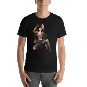 Jason from the Friday 13th - Mulan, Maniac Princesses, Short-Sleeve Unisex T-Shirt