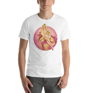 Rapunzel from Tangled, Disney Princesses Pin-Up, Short-Sleeve Unisex T-Shirt