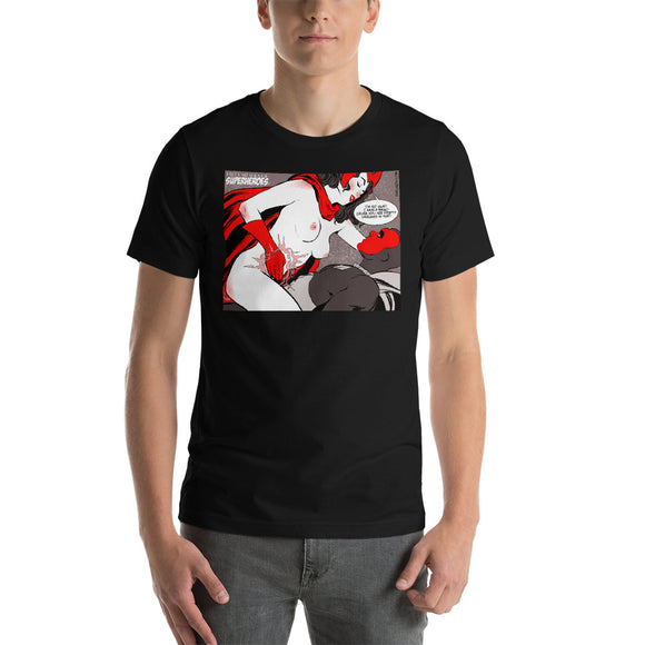 Vision & Scarlet Witch, Erotic Superheroes, Short-Sleeve Unisex T-Shirt