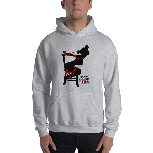 5 of clubs (Silhouette), Kinky Cards, Hooded Sweatshirt