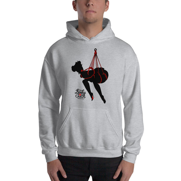 10 of clubs (Silhouette), Kinky Cards, Hooded Sweatshirt