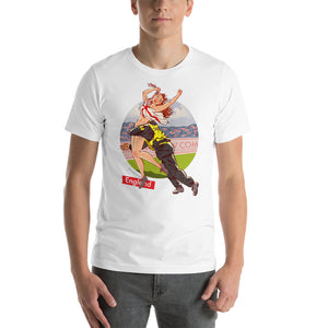 England, Football Pin-Up, Short-Sleeve Unisex T-Shirt