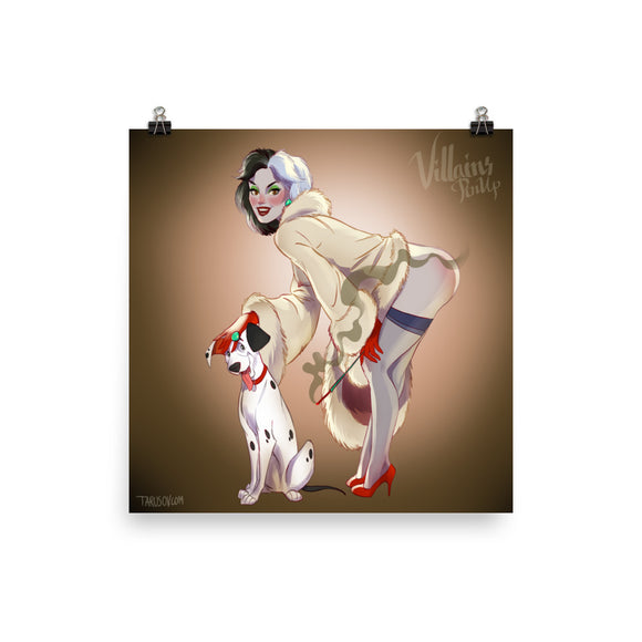 Cruella De Vil, Disney Villains Pin-Up, Poster