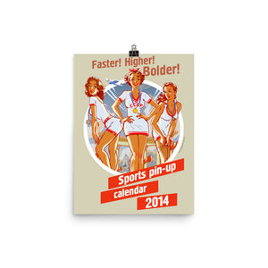 Cover, Sports Pin-Up, Poster