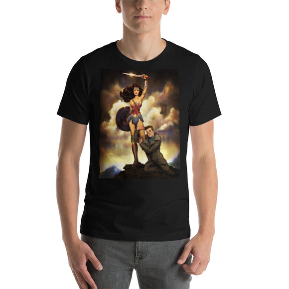 Wonder Woman & Steve Trevor, Short-Sleeve Unisex T-Shirt